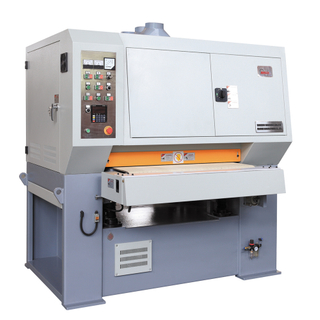Surface sanding, finishing, deburring, and edge rounding machine