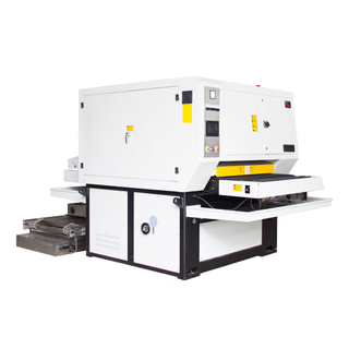 Wet operation surface sanding, finishing, deburring, and edge rounding machine